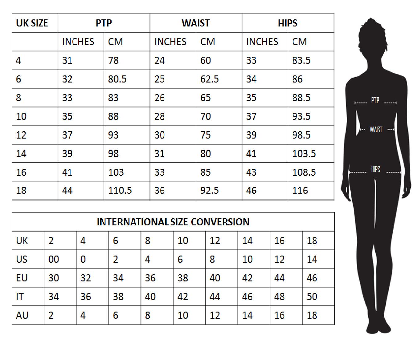 I.Silhouette Size guide