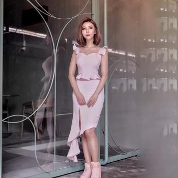 Pelisa Peplum Asymmetrical Dress