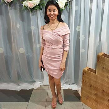 Lovriss Off Shoulder Ruched Dress