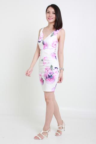 INSTOCK - Quinn Floral Dress In White