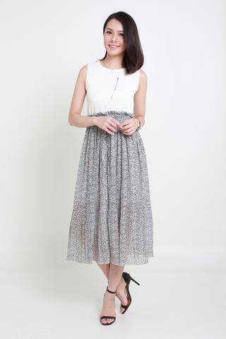 INSTOCK - Sienna Floweret Midi Pleat Skirt