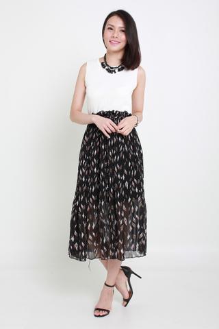 INSTOCK - Sienna Petal Midi Pleat Skirt