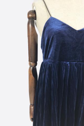 INSTOCK - Avis Pleated Dress In Royal Blue