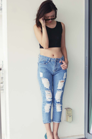 INSTOCK - Darcy Ripped Jeans In Blue