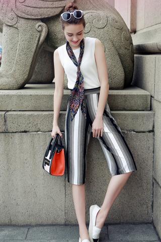 INSTOCK - Kadie Striped Culottes