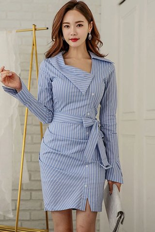 BACKORDER - Charelle Striped Shirt Dress