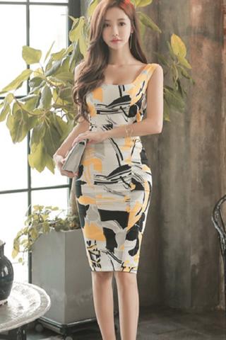 BACKORDER - Jenice Printed Sleeveless Dress