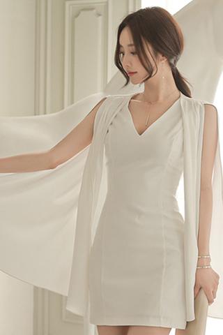 BACKORDER - Sendayan Cape Sleeve Dress