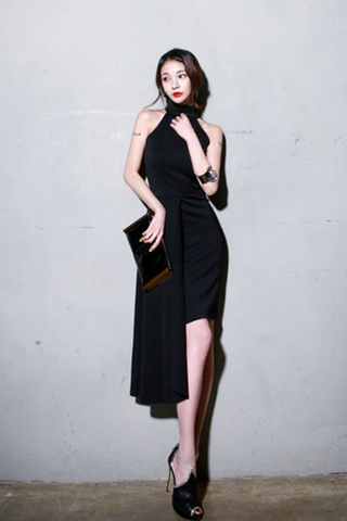 BACKORDER - Tera Asymmetrical Hem Dress