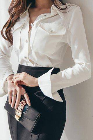 BACKORDER - Delyth Sleeve Button Shirt