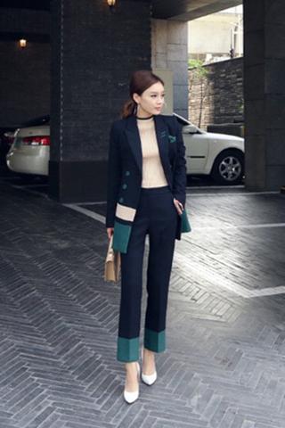 BACKORDER - Carcia Blazer With Pant Set