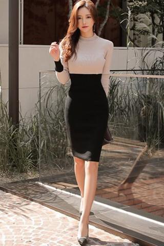 INSTOCK - Klaberra Contrast Midi Dress