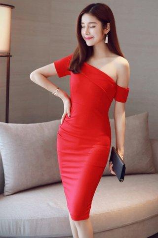 BACKORDER - Carina Toga Dress In Black & Red
