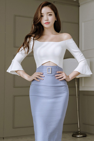 INSTOCK - Angie Off Shoulder Cutout Dress
