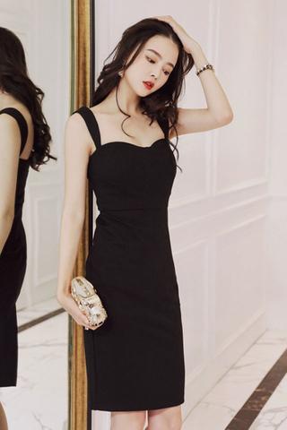 BACKORDER - Saely Sleeveless Cutout Midi Dress