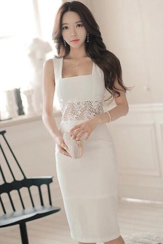 INSTOCK - Serrie Crochet Waist Sleeveless Dress