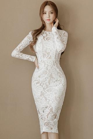 BACKORDER - Lizsa Floral Overlay Midi Dress