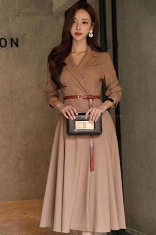 BACKORDER - Verissa Collar Sleeve Dress