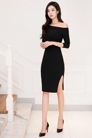 BACKORDER - Ralova One Shoulder Cut Out Slit Dress