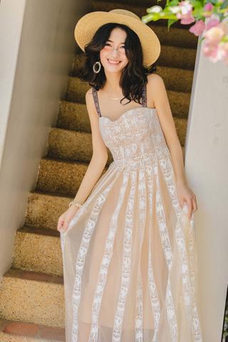 BACKORDER - Adora Crochet Overlay Dress