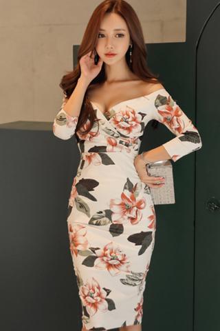 BACKORDER - Ashea Floral Print Sleeve Dress