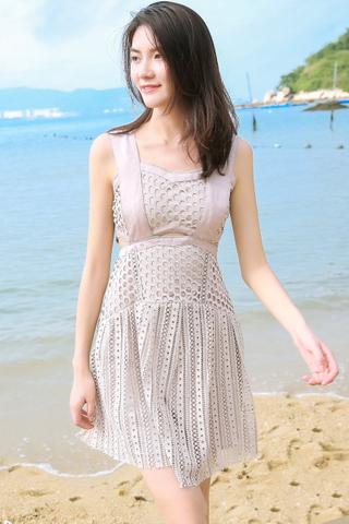 INSTOCK - Diora Crochet Cutout Dress