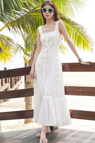 BACKORDER - Kermise Sleeveless Single Breasted Dress