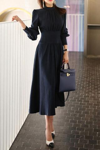 BACKORDER - Ravis Sleeve Gathered Midi Dress