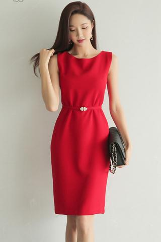 BACKORDER - Vronie Sleeveless Knee Length Dress