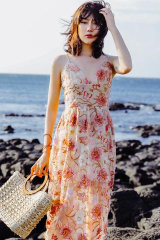 BACKORDER - Biance Floral Crochet Dress