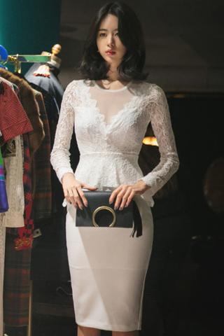 BACKORDER - Helvy Sleeve Floral Lace Midi Dress