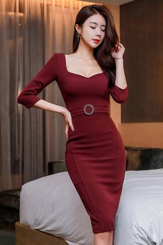 INSTOCK - Kadley Cutout Sleeve Midi Dress