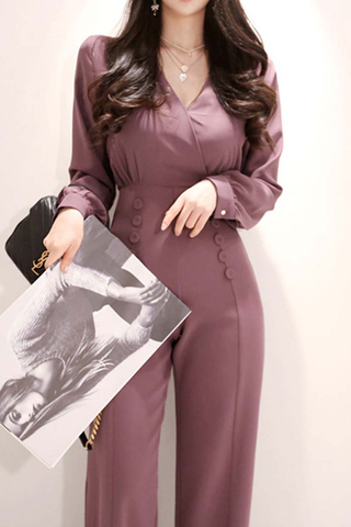 BACKORDER - Nelie Double Breasted Jumpsuit