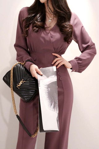 INSTOCK - Nelie Double Breasted Jumpsuit