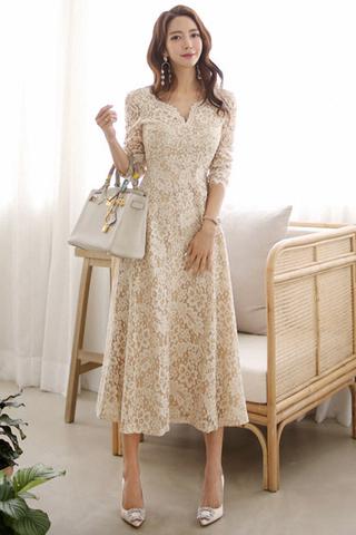 BACKORDER - Lynia Floral Lace A-Line Dress
