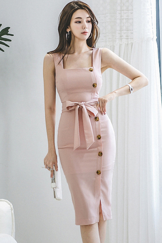 INSTOCK - Larissa Single Breasted Slit Dress