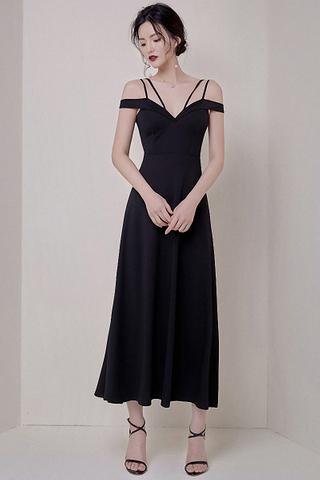 BACKORDER - Reyane Cold Shoulder Maxi Dress