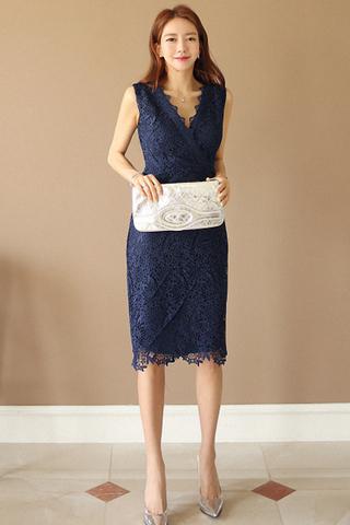 INSTOCK - Valssia Floral Crochet Overlay Dress