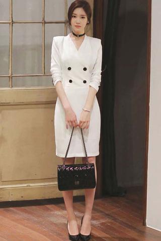 BACKORDER - Bennett Double Breasted Sleeve Dress