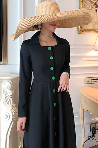 BACKORDER - Alvisr Collar Sleeve A-Line Dress