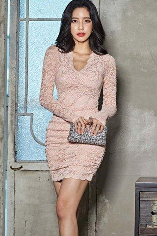 BACKORDER - Kira Sleeve Lace Mini Dress