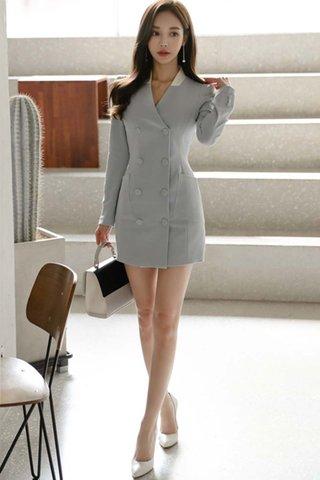 BACKORDER - Elsanda Sleeve Double Breasted Dress