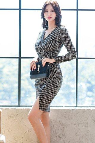 BACKORDER - Resia Print Side Slit Dress