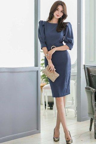 BACKORDER - Dorathy Puff Sleeve Midi Dress