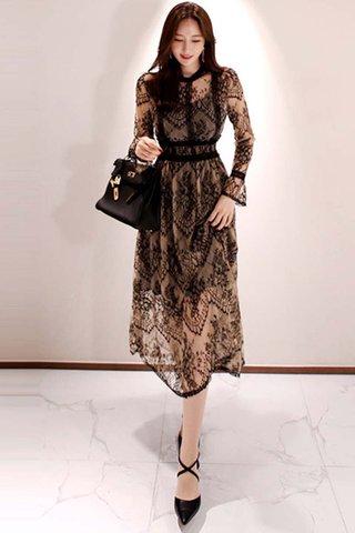 BACKORDER - Elmora Lace Overlay Dress