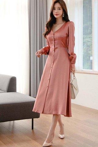 BACKORDER - Elssa Single Breasted Midi Dress