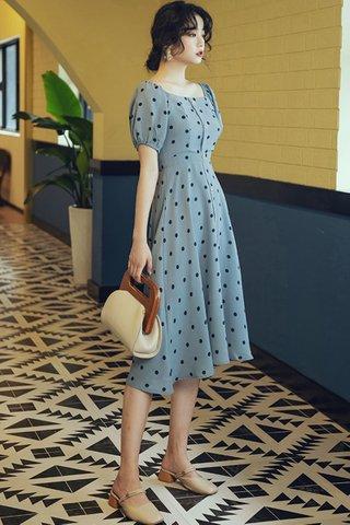 INSTOCK - Joely Polka Dot Puff Sleeve Dress