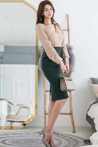 BACKORDER - Keia Sleeve Peplum Dress