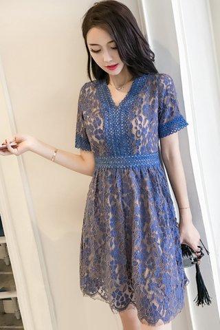 INSTOCK - Nalicy Sleeve Lace Overlay Dress