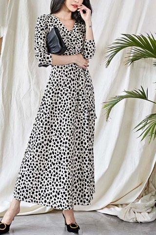 BACKORDER - Velsandra Print Wrap Dress
